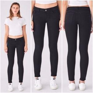 DL1961 Emma Black Leggings Jeans Skinny Cropped 25
